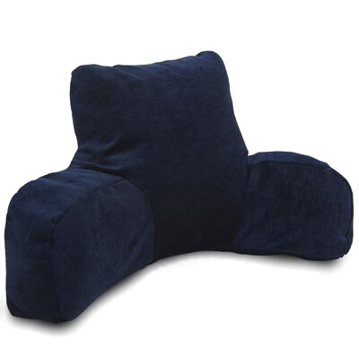 Bramma Reading Bed Rest Pillow Color: Navy