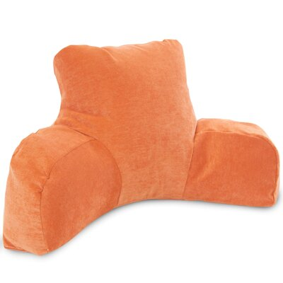 Bramma Reading Bed Rest Pillow Color: Orange