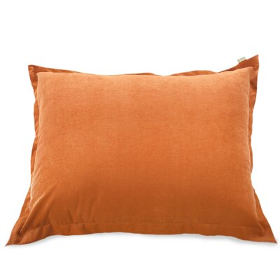 Bramma Synthetic Floor Pillow Color: Orange