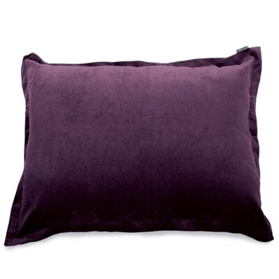 Bramma Synthetic Floor Pillow Color: Aubergine