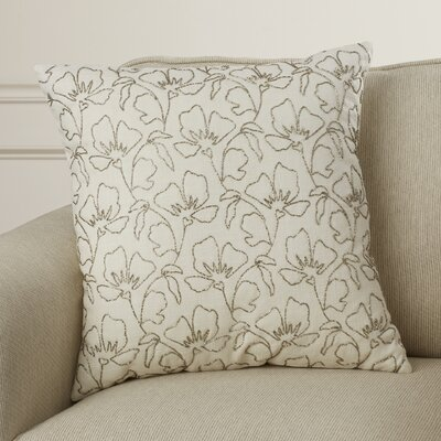 Rhine Beaded Wild Flowers Cotton Throw Pillow