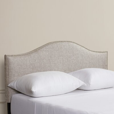 Dodson Nail Button Upholstered Panel Headboard Size: Twin, Upholstery: Groupie Pewter