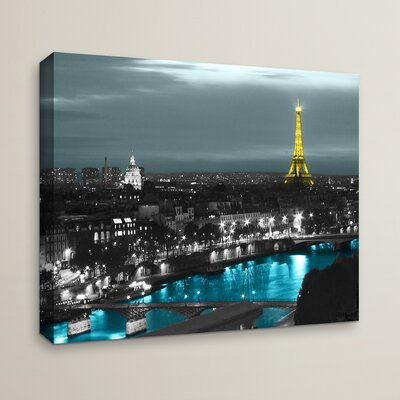 Paris' by Revolver Ocelot Framed Photo Graphic Print on Canvas Size: 08'' x 10''