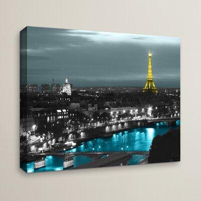 'Paris' by Revolver Ocelot Graphic Print on Canvas