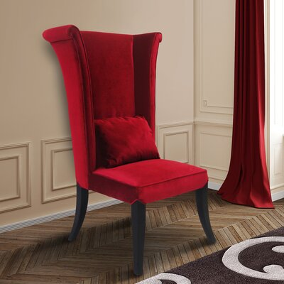 Borrego Wingback Chair Upholstery: Red