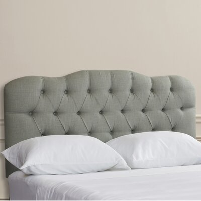 Brigitte Handcrafted Tufted Upholstered Panel Headboard Upholstery: Grey, Size: Full