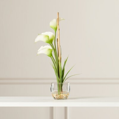 Lorelei Silk Calla Lily with Vase