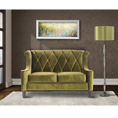 Winslet Velvet Loveseat Upholstery: Green