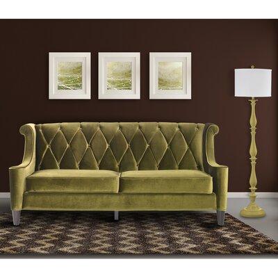 Carressa Velvet Sofa Upholstery: Green