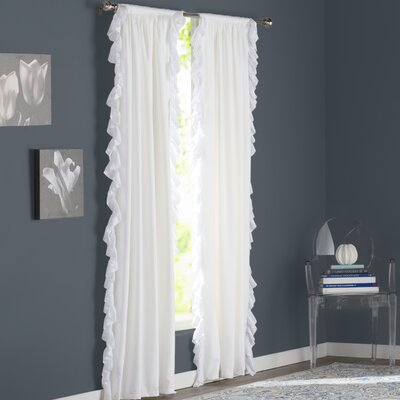 Wisbech Blackout Curtain Panels Color: White