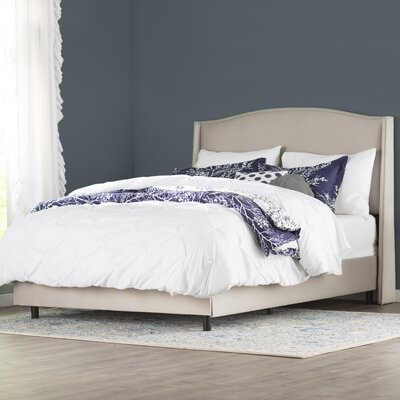 Emalie Upholstered Panel Bed Size: Queen, Color: Shantung Dove