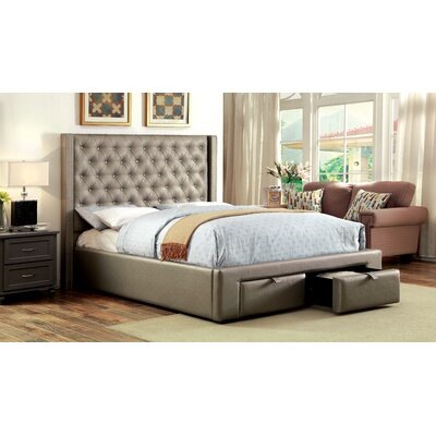 Skegness Upholstered Platform Bed Size: King