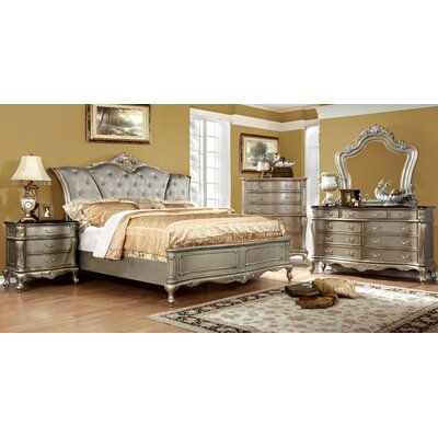 Cameron Upholstered Panel Bed Size: Queen