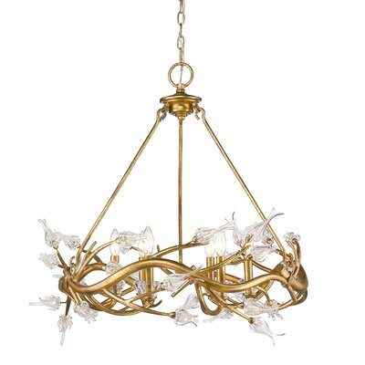 Rosmeer 6-Light Crystal Chandelier