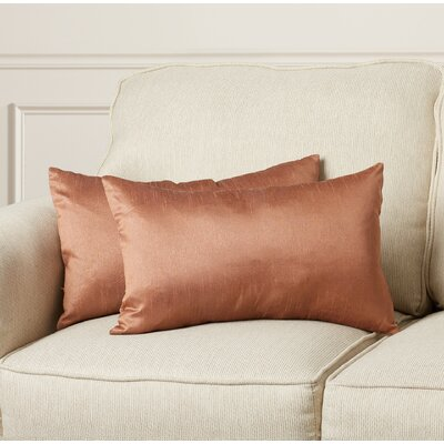 Rhea Lumbar Pillow Color: Champagne