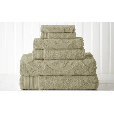 Solid 6 Piece Towel Set Color: Taupe