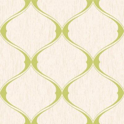 Olsene 33' x 20'' Trellis 3D Embossed Wallpaper Color: Green