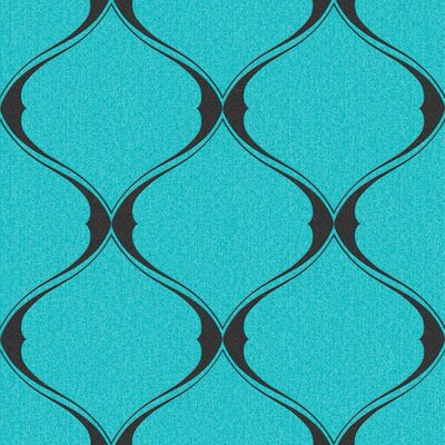 Olsene 33' x 20'' Trellis 3D Embossed Wallpaper Color: Turquoise