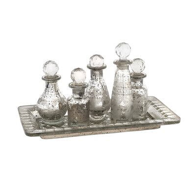 6 Piece Macaire Mini Decorative Bottle Set