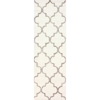 Noirmont Hand-Woven Nickel Area Rug Rug Size: Runner 26 x 8
