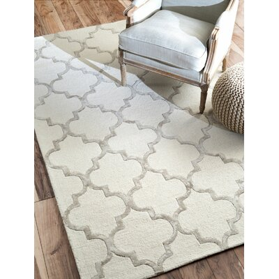 Noirmont Hand-Woven Nickel Area Rug Rug Size: Rectangle 83 x 11