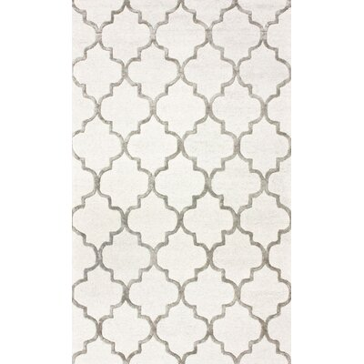 Noirmont Hand-Woven Cream Area Rug Rug Size: 5 x 8