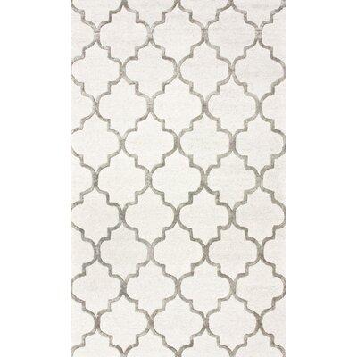 Noirmont Hand-Woven Cream Area Rug Rug Size: 76 x 96