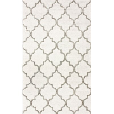 Noirmont Hand-Woven Cream Area Rug Rug Size: 12 x 18