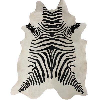 Cherree Hand-Woven Black/White Area Rug Rug Size: 5 x 7