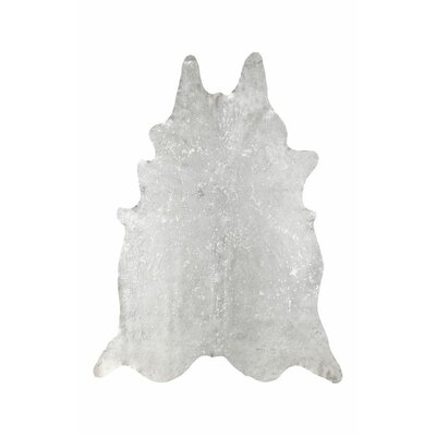 Fabiano Cowhide Snow Hand-woven Area Rug Rug Size: 5 x 7