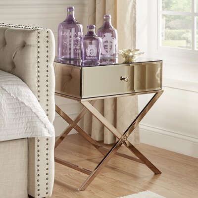 Tenenbaum End Table Finish: Champagne Gold Plated