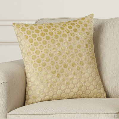 Carlie Velvet Throw Pillow Color: Citrine, Size: 18 H x 18 W