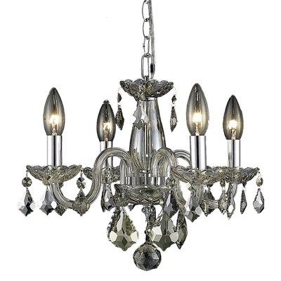 Carmen 4-Light Crystal Chandelier Finish / Crystal Color: Golden Teak / Golden Teak (Smoky)