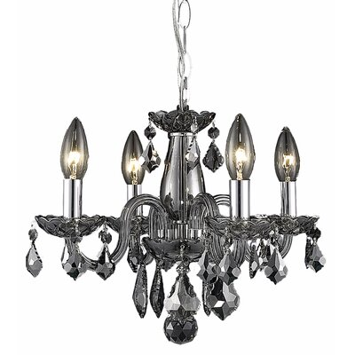 Carmen 4-Light Crystal Chandelier Finish / Crystal Color: Silver Shade / Silver Shade (Grey)