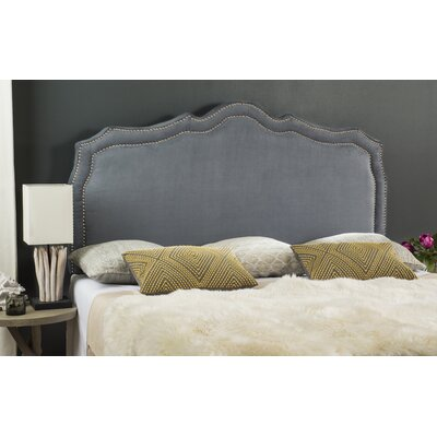 Carmen Upholstered�Panel Headboard Size: Queen, Color: Grey