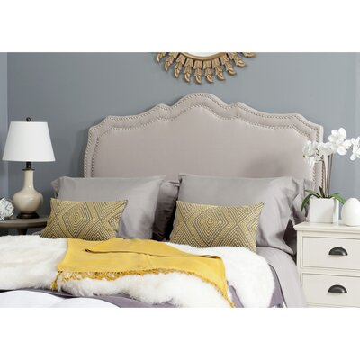Carmen Upholstered�Panel Headboard Size: Queen, Color: Taupe