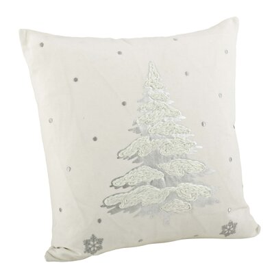 Stanley Cotton Throw Pillow Color: Silver