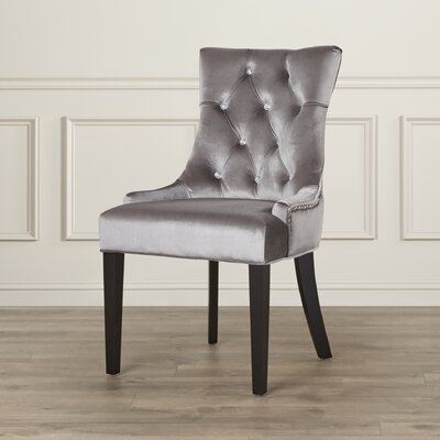 Barrile Side Chair Upholstery: Velvet - Chrome