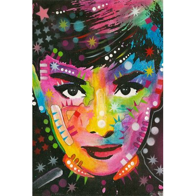 Audrey Graphic Art on Wrapped Canvas