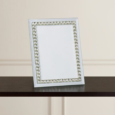 Magali Jeweled Mirror Picture Frame Size: 4