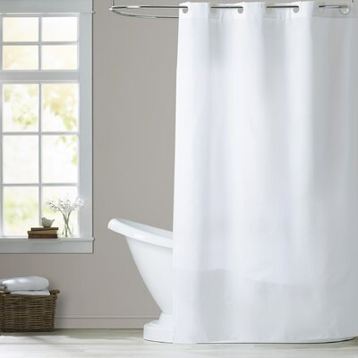 Devereau Shower Curtain Color: White, Size: Extra Long