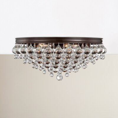 Devanna 6-Light Flush Mount Finish: Vibrant Bronze