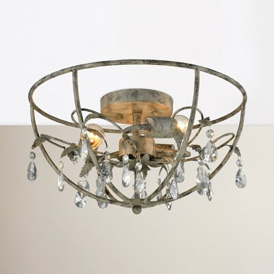 Yate 3-Light Semi Flush Mount Finish: Marble Gray