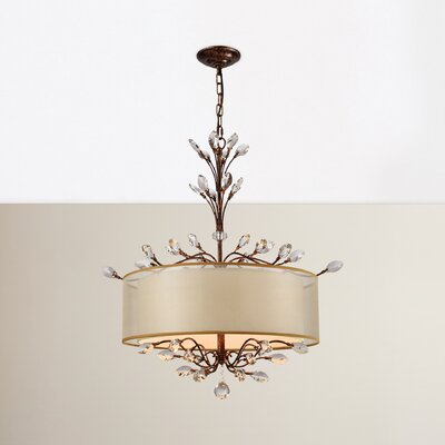 Turner 4-Light Drum Chandelier Finish: Spanish Bronze