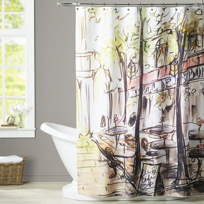 Spencer Paris Cafe Shower Curtain