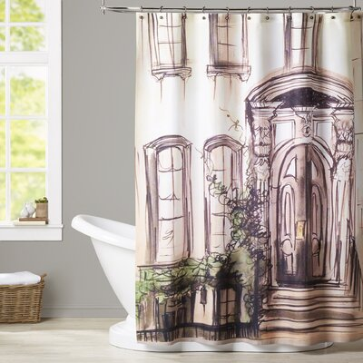 Max Brownstone Entryway Shower Curtain