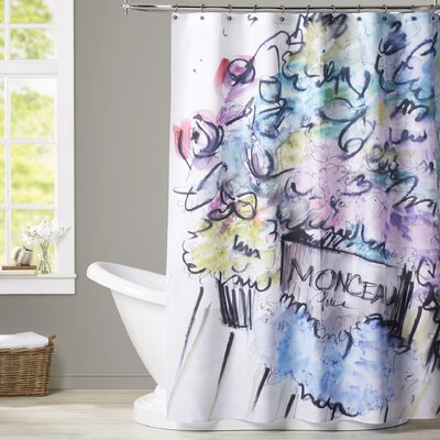 Shellman Blooms in Paris Shower Curtain