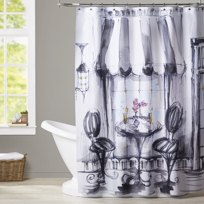 Carl Bistro Bubbly Shower Curtain