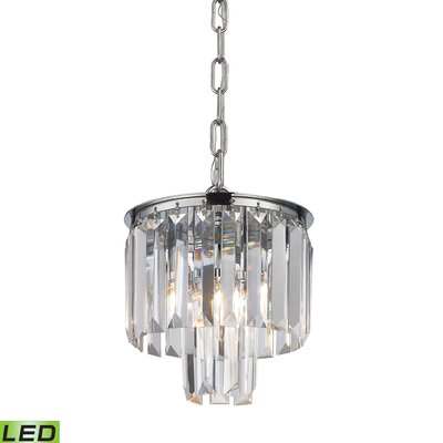 Springfield 1-Light Metal Mini Pendant Finish: Polished Chrome