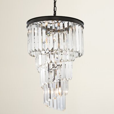Springfield 6-Light Crystal Chandelier Bulb Type: 4.8W LED